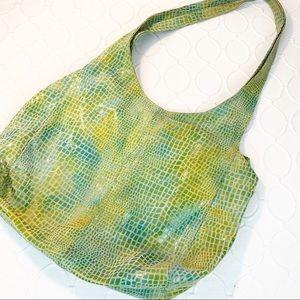 Handbags - Temma Dahan Green Snakeskin HoBo Shoulder Bag